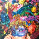 STEP Puzzle Mask 1000 pc Jigsaw Puzzle Glitter Pieces Flowers Fantasy