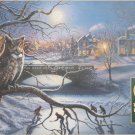 Cobble Hill Edge of Town 1000 pc Jigsaw Puzzle James Meger Art Owl Night Hockey Snow Winter