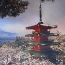 Educa Mount Fuji and Chureito Pagoda Japan 3000 pc Jigsaw Puzzle Temple