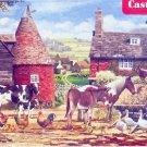 Castorland Farmyard 300 pc Jigsaw Puzzle Farnhouse Barn Roosters Cows Horses