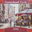 Castorland Lovers in Paris 600 pc Jigsaw Puzzle Outdoor Cafes