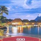 Castorland French Polynesia 600 pc Jigsaw Puzzle Twilight Cabanas