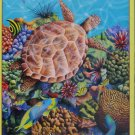 SunsOut Liquid Flight 300 pc Jigsaw Puzzle Carolyn Steele Turtles Fish