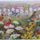 Piatnik Joyful Place 1000 pc Jigsaw Puzzle Birds Cardinals Robins Butterflies