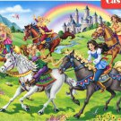 Castorland Princess Horse Ride 260 pc Jigsaw Puzzle Horses Castle Rainbow