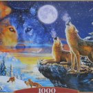 Castorland Howling Wolves 1000 pc Jigsaw Puzzle Wolf Wildlife Animals Moon