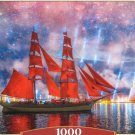 Castorland Red Frigate 1000 pc Jigsaw Puzzle Sailing Ship