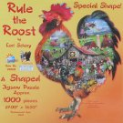 SunsOut Lori Schory Rule the Roost 1000 pc Shaped Jigsaw Puzzle Country Farm Rooster