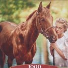 Castorland Beauty and Gentleness 1000 pc Jigsaw Puzzle Horse Stallion Young Lady