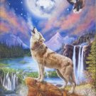 Castorland Wolf's Night 1500 pc Jigsaw Puzzle Bald Eagle Full Moon
