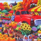 SunsOut Marketplace 300 pc Jigsaw Puzzle Farmer's Market Nancy Wernersbach