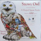 SunsOut Lori Schory Snowy Owl 650 pc Shaped Jigsaw Puzzle Owls Birds Chipmunks