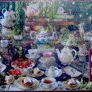 Cobble Hill Mad Hatter's Tea Party 2000 pc Jigsaw Puzzle Alice in Wonderland Teacups