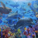 Cobble Hill Coral Sea 2000 pc Jigsaw Puzzle Manatees Dolphins Turtles Dave Penfound
