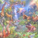 Cobble Hill Dan Penfound Into the Jungle 1000 pc Jigsaw Puzzle Africa Rhinos Zebras Elephants