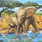 SunsOut Howard Robinson Friends Forever 300 pc Jigsaw Puzzle Elephants Giraffes Zebras