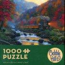 Cobble Hill Mark Keathley Smoky Train 1000 pc Jigsaw Puzzle Mountains Autumn