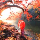 Educa Sunrise on Katsura River Japan 1000 pc Jigsaw Puzzle Autumn