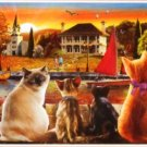 Educa Cats on the Quay 1000 pc Panorama Jigsaw Puzzle Marina Dock