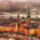 Educa View of Stockholm Sweden 1000 pc Jigsaw Puzzle Storm Clouds Skyline