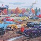 SunsOut Ken Zylla Demolition Derby 300 pc Jigsaw Puzzle Americana Nostalgia Racing