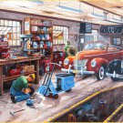 SunsOut Ken Zylla Ford And A Cord 300 pc Jigsaw Puzzle Classic Cars Garage Mechanics Shop
