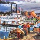 SunsOut Ken Zylla Riverboat 300 pc Jigsaw Puzzle Wabasha River