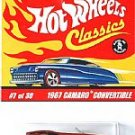 Hot Wheels 1967 Chevy Camaro Convertible Classics 2 #7 of 30 Red