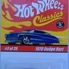 Hot Wheels 1970 Dodge Dart Classics Collection Purple Paint White Tampos