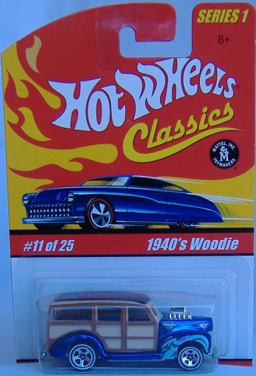 Hot Wheels Classics Collection 1 1940's Woody Blue Paint