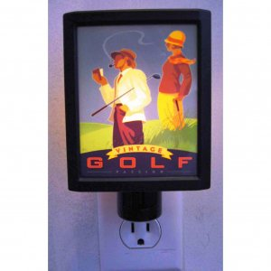 Illuminart Vintage Golf Passion Art Print Night Light Si Huynh Artist