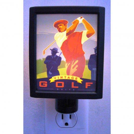 Illuminart Vintage Golf Drive Art Print Night Light Si Huynh Artist