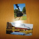 2 Train Locomotive Postcards both of The Laona and Northern Railways Lumberjack Special Laona WI