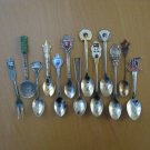 12 Small Collectors Spoons and 1 Fork Countries of the World Korea Hong Kong Norway Switzerland More