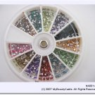 Nail arts 2mm Rhinestone 12 colors (1200 pieces) FREE SHIPPING [NA001]