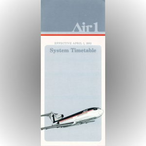 Air 1 inaugural timetable 4/1/83 ($)
