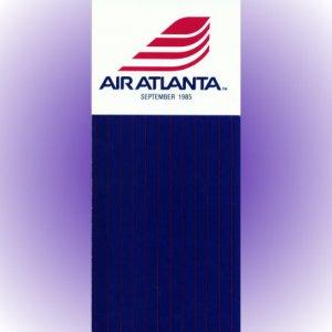 Air Atlanta system timetable 9/85 ($)