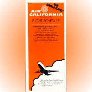 Air California system timetable 7/14/76 ($)