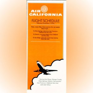 Air California system timetable 11/1/76 ($)