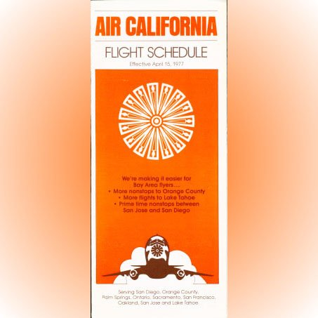 Air California system timetable 4/15/77 ($)