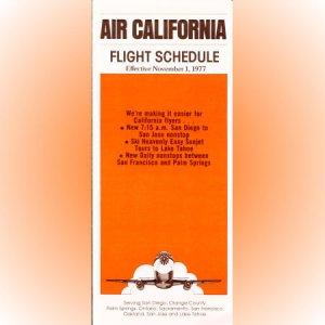 Air California system timetable 11/1/77 ($)
