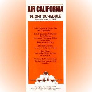 Air California system timetable 4/11/78 ($)
