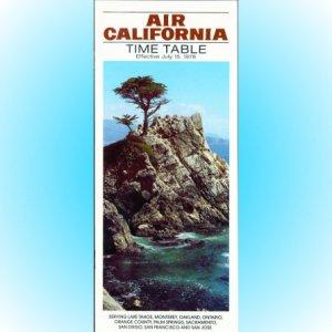 Air California system timetable 7/15/78 ($)