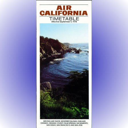Air California system timetable 9/5/78 ($)