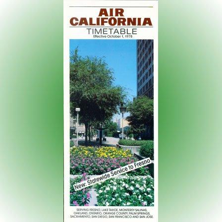 Air California system timetable 10/1/78 ($)