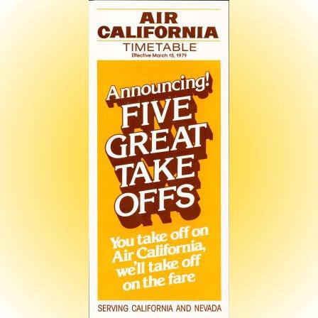 Air California system timetable 3/15/79 ($)