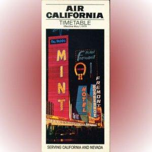 Air California system timetable 5/1/79 ($)