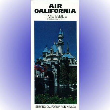 Air California system timetable 7/1/79 ($)