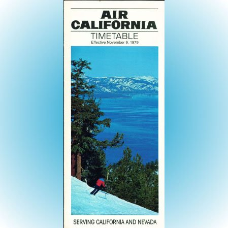 Air California system timetable 11/9/79 ($)