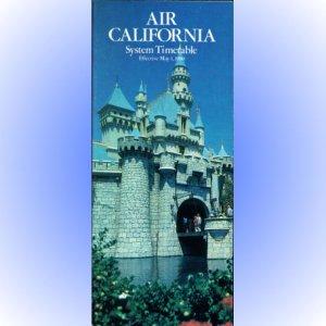 Air California system timetable 5/1/80 ($)
